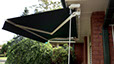 foldout awning with rod control